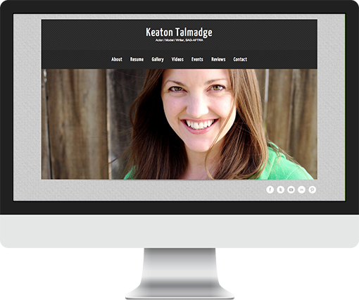 Wordpress site for actress Keaton Talmadge